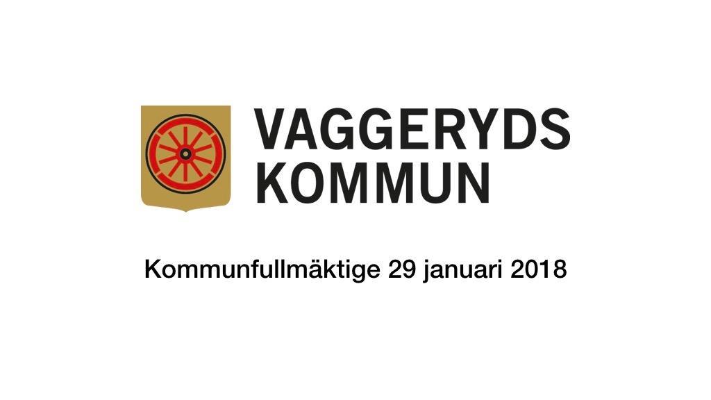 29 januari 2018 - Kommunfullmäktige