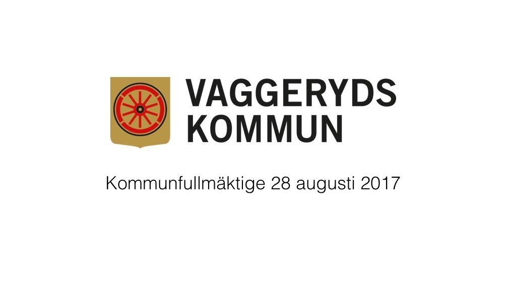 28 augusti 2017 - Kommunfullmäktige