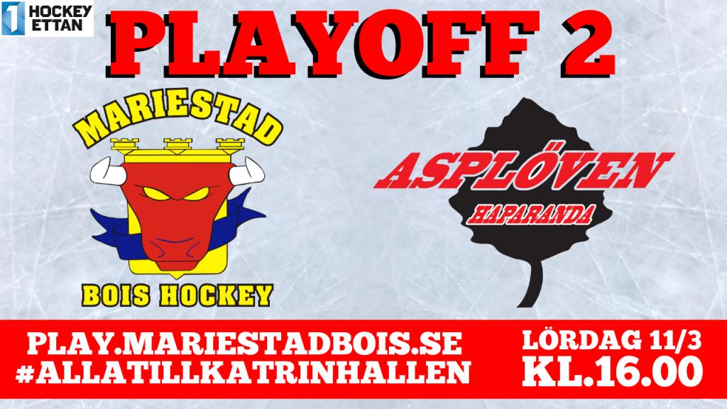 Mariestad BoIS - Asplöven HC / Lördag 11/3 16:00