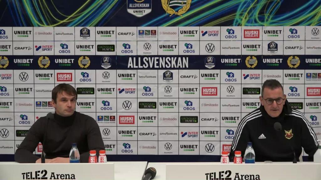 Se presskonferensen efter segern mot Östersund