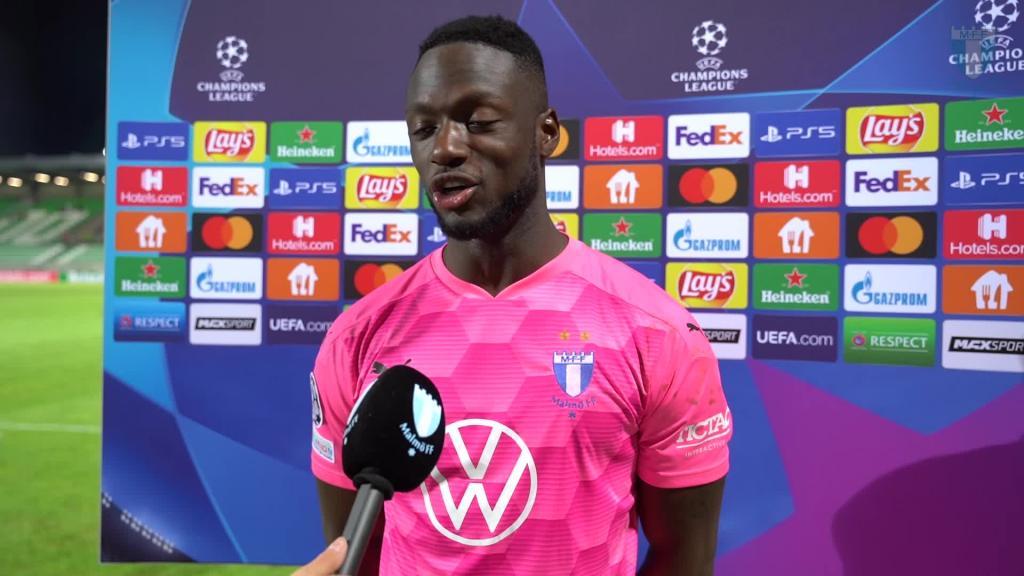 Ismael Diawara efter matchen mot Ludogorets