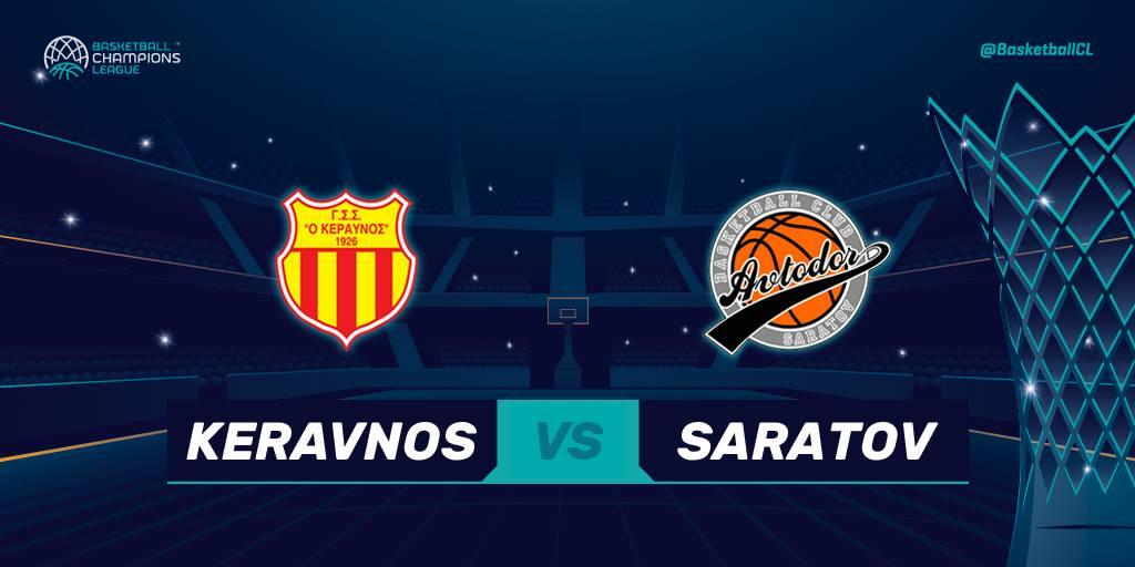 Basketball Champions League - KERAVNOS vs SARATOV  LIVE