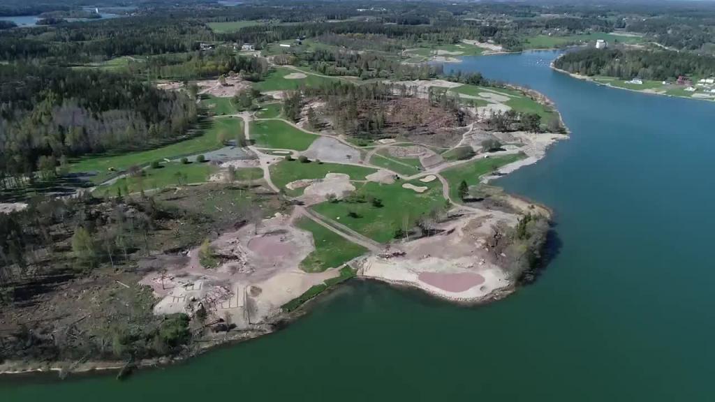 14052019 Ombyggnaden av Golfbanan i Kastelholm