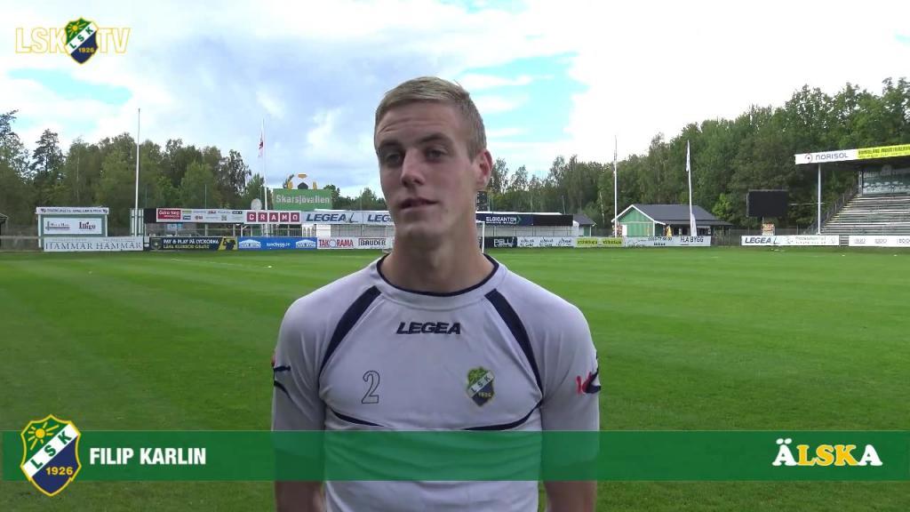Filip Karlin, matchens LSK-profil mot Husqvarna FF