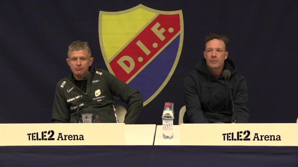 Presskonferensen efter DIF-Brann