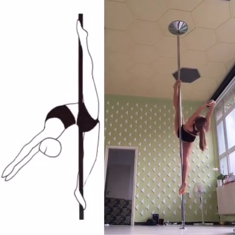 F91 VERTICAL SPLIT NO HANDS 1.0 by FULOP HANNA POLE SPORTS