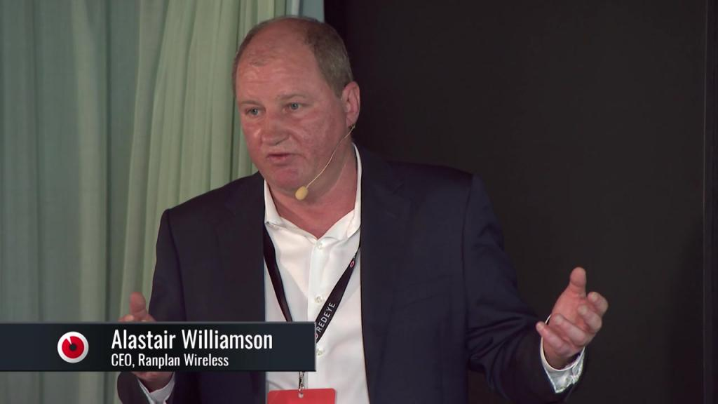 Ranplan Wireless, vd Alastair Williamson presenterar på Growth Day 4 juni