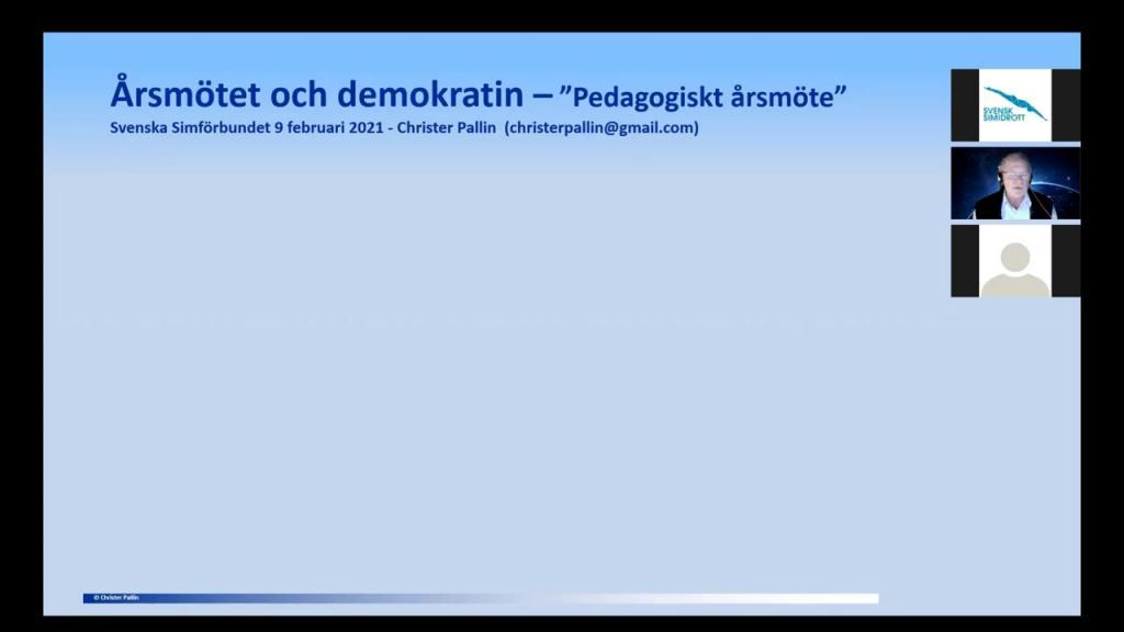 Årsmöte & demokrati - Christer Pallin, 2021-02-09