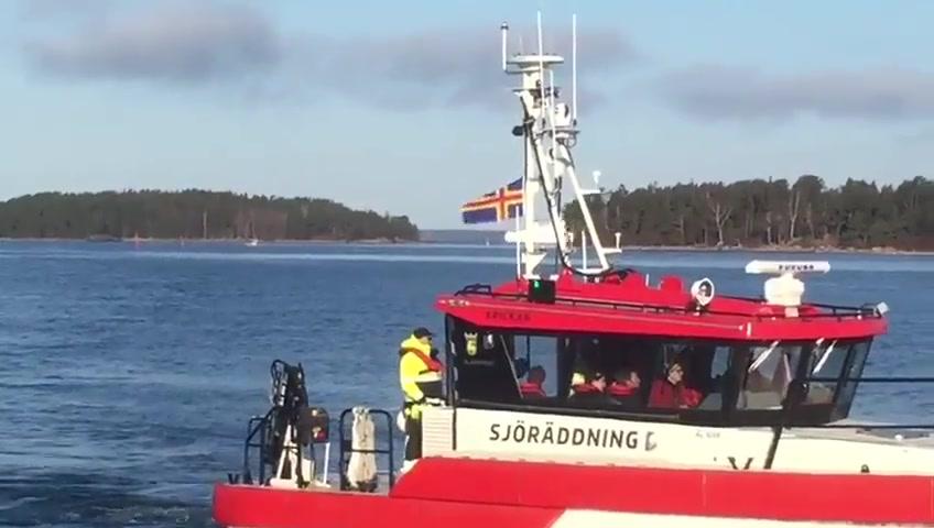 Skarven på grund sjöräddningen