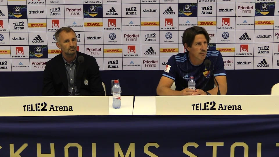Presskonferensen efter DIF - AFC Eskilstuna