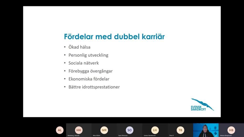 DSIU - Dubbla karriärer & Karriärövergångar - Helena Bengtsson, 2021-02-12