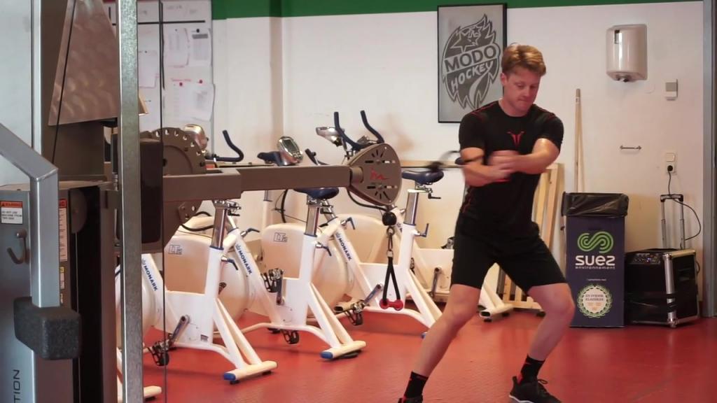 Fredrik Olofssons första träningspass med laget