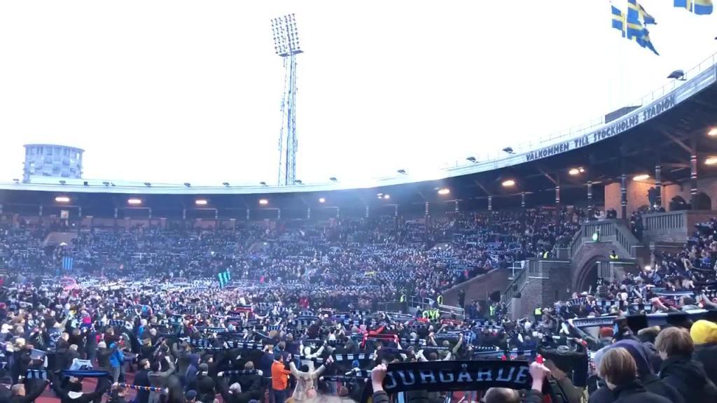 Sjung för gamla Djurgår'n på Stockholms Stadion