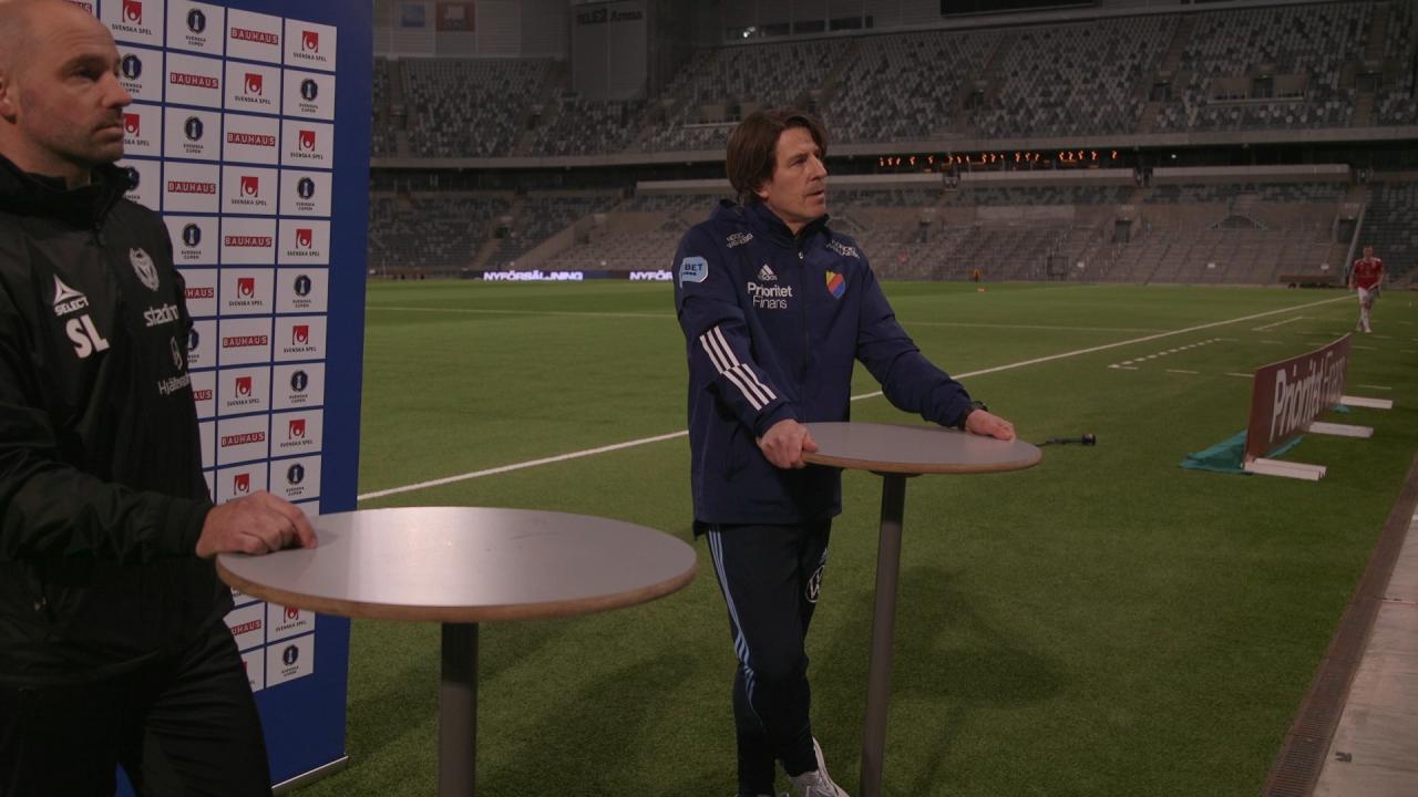Presskonferensen efter gruppfinalen i Svenska Cupen