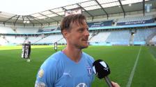 Intervju med Eric Larsson efter träningsmatchen mot Elfsborg