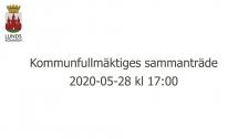 Kommunfullmäktiges sammanträde 2020-05-28
