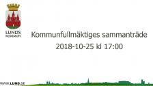 Kommunfullmäktiges sammanträde 2018-10-25