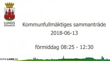 Kommunfullmäktiges sammanträde 2018-06-13 förmiddag