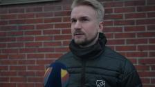 Pierre Fondin efter segern mot Uppsala