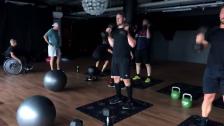 Försäsongsträning med herrlaget på gymmet