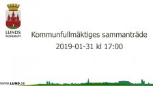 Kommunfullmäktiges sammanträde 2019-01-31
