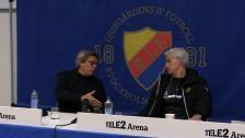 Presskonferensen efter cupderbyvinsten