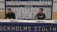 Presskonferensen efter DIF - AIK