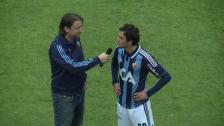 Trimi och Anders efter U21-segern mot Gefle
