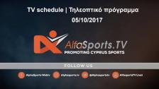 LIVE TV SCHEDULE ON ALFASPORTS TV