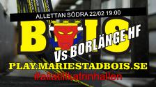 Mariestad BoIS - Borlänge HF / Onsdag 22/02 19:00