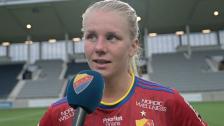 Nellie Lilja och Magnus Pålsson efter matchen mot Linköping