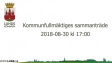 Kommunfullmäktiges sammanträde 2018-08-30