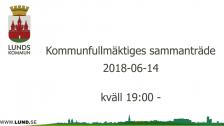 Kommunfullmäktiges sammanträde 2018-06-14 kväll