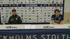 Presskonferensen efter Djurgården - IFK Göteborg