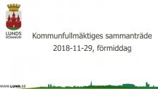 Kommunfullmäktiges sammanträde 2018-11-29 Förmiddag