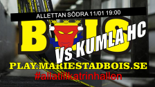 Mariestad BoIS - Kumla HC / Onsdag 11/01 19:00