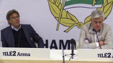 Presskonferensen efter Hammarby - Djurgården