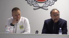 Se presskonferensen efter förlusten i Helsingborg
