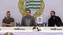Presskonferensen med Nikola Djurdjic och Erkan Zengin