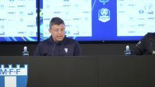 Presskonferens efter segern mot Varbergs BoIS