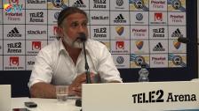 Presskonferensen efter DIF-AFC