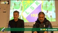 Presskonferens efter Ljungskile SK - Athletic FC United