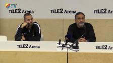 Presskonferensen efter Brommapojkarna - Djurgården