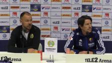 Presskonferensen efter 2-1-segern mot Djurgården