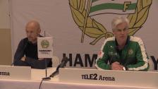 Presskonferensen efter derbysegern mot DIF