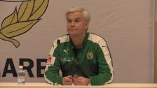 Presskonferensen efter Elfsborgsmatchen
