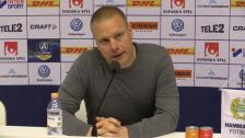 Presskonferensen efter 3-1-segern mot AFC
