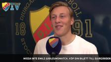 Emil ångar på mot 100 allsvenska matcher