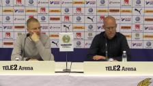 Presskonferensen efter hemmasegern över GIF Sundsvall