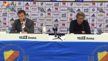 Presskonferensen efter DIF - Norrköping